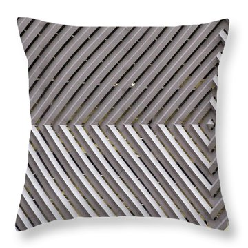 Industrial Diamonds Throw Pillow