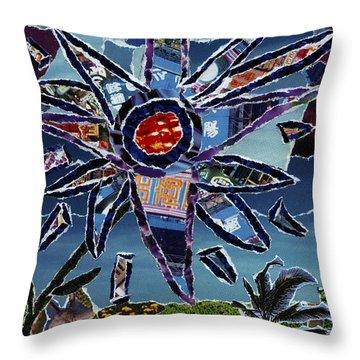 Industrial Flower Throw Pillow