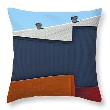 Industrial Geometry Throw Pillow