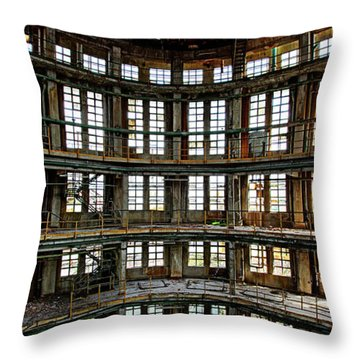 Throw Pillow featuring the photograph Industrial Heritage - Urban Exploration by Dirk Ercken