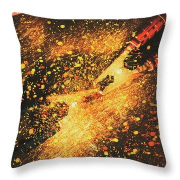 Industrial Jump Start Throw Pillow