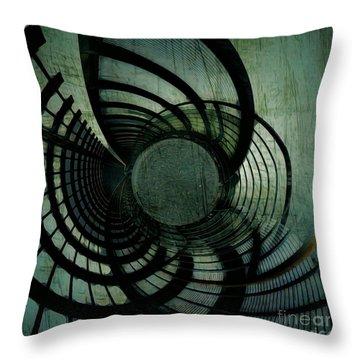 Industrial Overpass Grey Throw Pillow