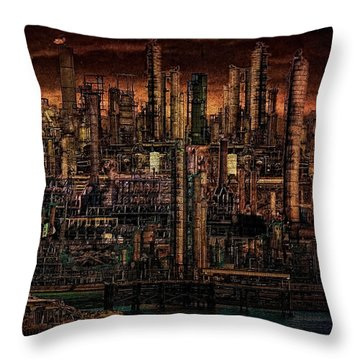 Industrial Psychosis Throw Pillow
