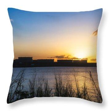 Industrial Sunset Throw Pillow