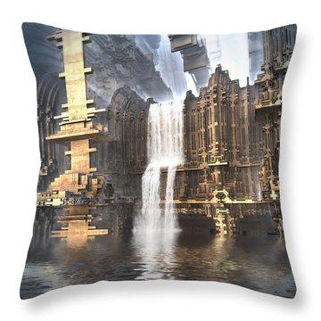 Industrial Waterworks Throw Pillow