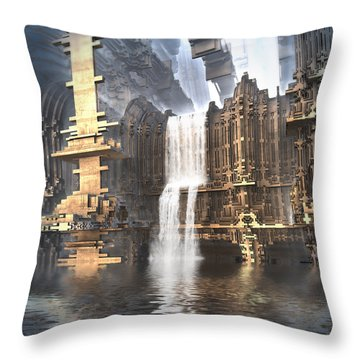 Industrial Waterworks Throw Pillow