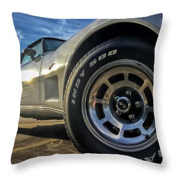 Indy 500 Color Throw Pillow