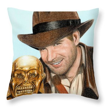 Indy Throw Pillow by Bruce Lennon