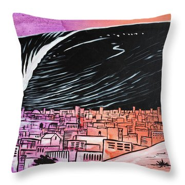 Throw Pillow featuring the painting Inescapable Love by Nathan Rhoads