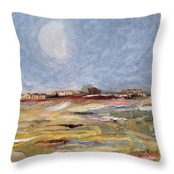 Throw Pillow featuring the painting Inevitable Epoch by Judith Rhue