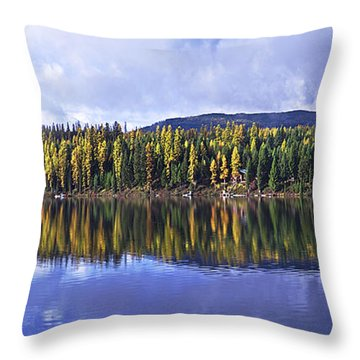 Inez Lake Montana Throw Pillow