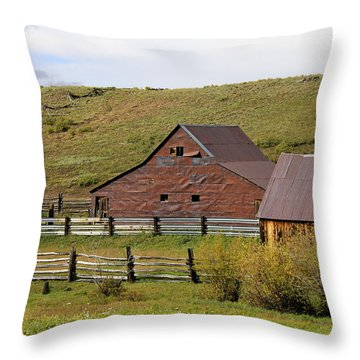 Infamous Ranch - True Grit Throw Pillow by Marta Alfred