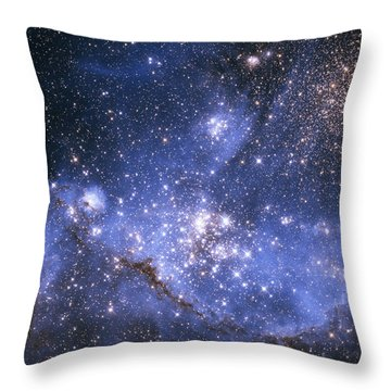 Infant Stars In The Small Magellanic Cloud  Throw Pillow