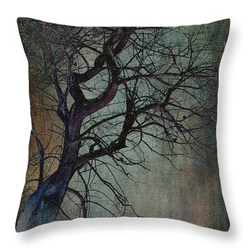 Infared Tree Art Twisted Branches Throw Pillow