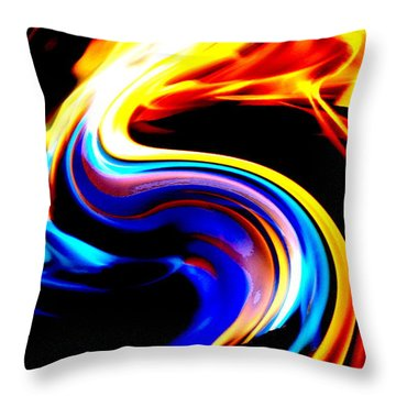 Inferno Abstract I Throw Pillow