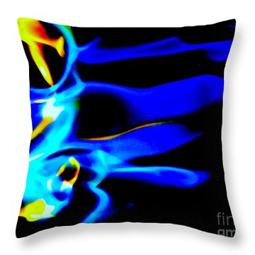 Inferno Abstract IIi Throw Pillow
