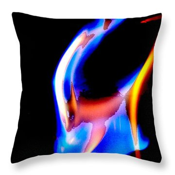 Inferno Abstract V Throw Pillow