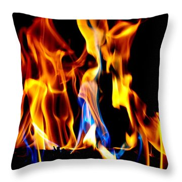Inferno Abstract II Throw Pillow