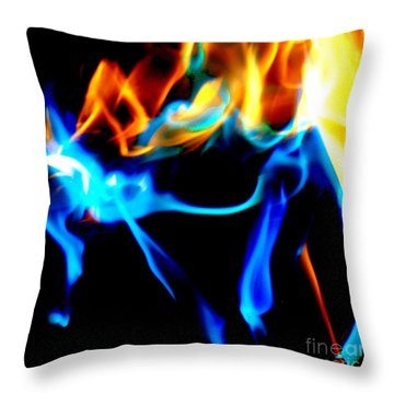 Inferno Xi Throw Pillow