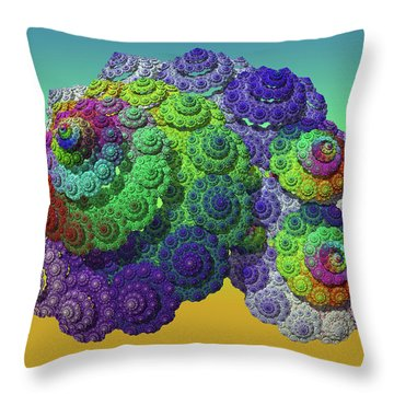Infinite Inspiration Spiral Throw Pillow