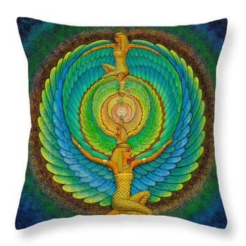 Infinite Isis Throw Pillow by Sue Halstenberg
