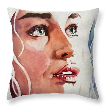 Throw Pillow featuring the painting Infinite Light  by Michal Madison