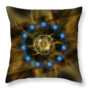 Throw Pillow featuring the digital art Infinite Lotus by Kenneth Armand Johnson