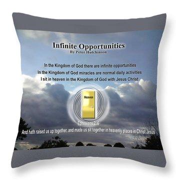 Infinite Opportunities Throw Pillow
