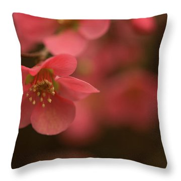 Infinite Pink Throw Pillow