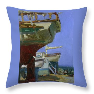 Infinity Awaiting Winter - Plein Air Catalina Island Throw Pillow