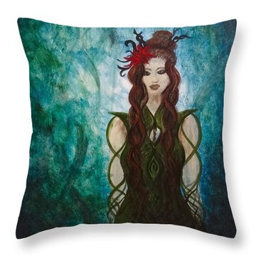 Infinity Goddess Throw Pillow