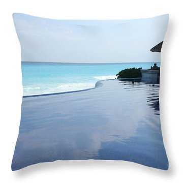 Infinity Pool Throw Pillow