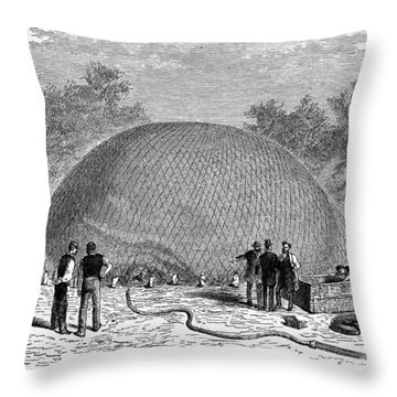 Inflation Of A Balloon Throw Pillow by Granger