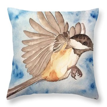 Inflight - Cropped Throw Pillow