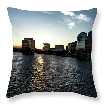 Throw Pillow featuring the photograph Influential Light by Eric Christopher Jackson