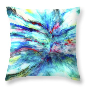 Influx Throw Pillow by Tom Druin