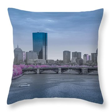 Infrared Boston Throw Pillow