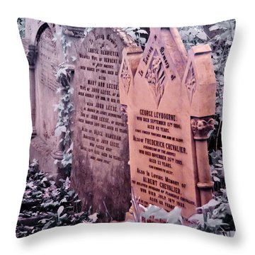 Music Hall Stars At Abney Park Cemetery Throw Pillow