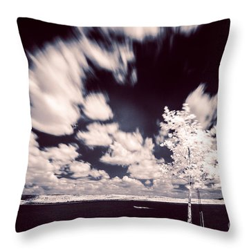 Infrared Lake Throw Pillow