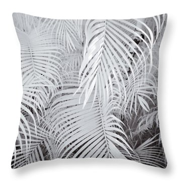 Infrared Palm Abstract Throw Pillow by Adam Romanowicz