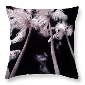 Infrared Palm Trees Throw Pillow by Adam Romanowicz