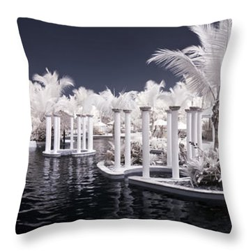 Infrared Pool Throw Pillow by Adam Romanowicz