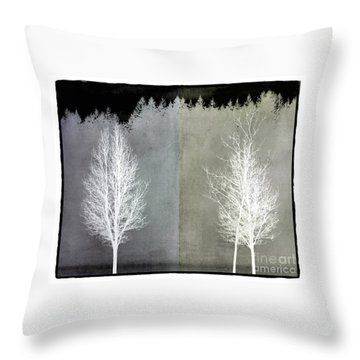 Infrared Trees With Texture Throw Pillow
