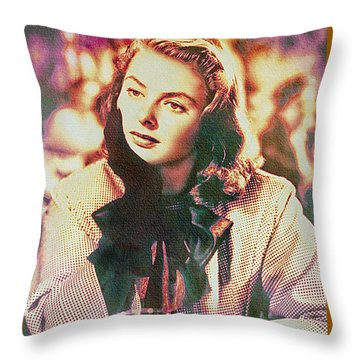 Ingrid Bergman - Movie Legend Throw Pillow