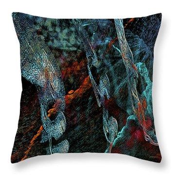 Inhabited Space Throw Pillow by Alex Galkin