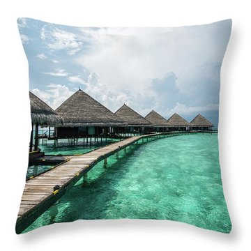 Throw Pillow featuring the photograph Inhale by Hannes Cmarits