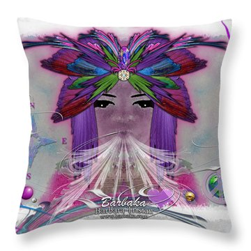 Throw Pillow featuring the digital art Inhaling Exhaling Peace by Barbara Tristan