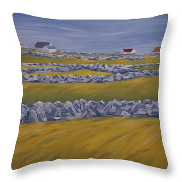 Inish Mor Throw Pillow