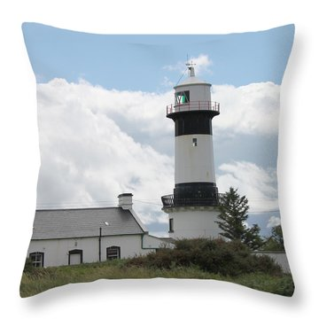 Inishowen Lighthouse Throw Pillow