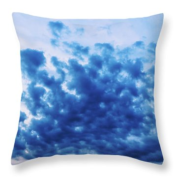 Throw Pillow featuring the photograph Ink Blot Sky by Colleen Kammerer
